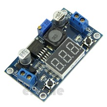 J34 Free Shipping LM2596 DC 4.0~40 to 1.3-37V LED Voltmeter Buck Step-down Power Converter Module