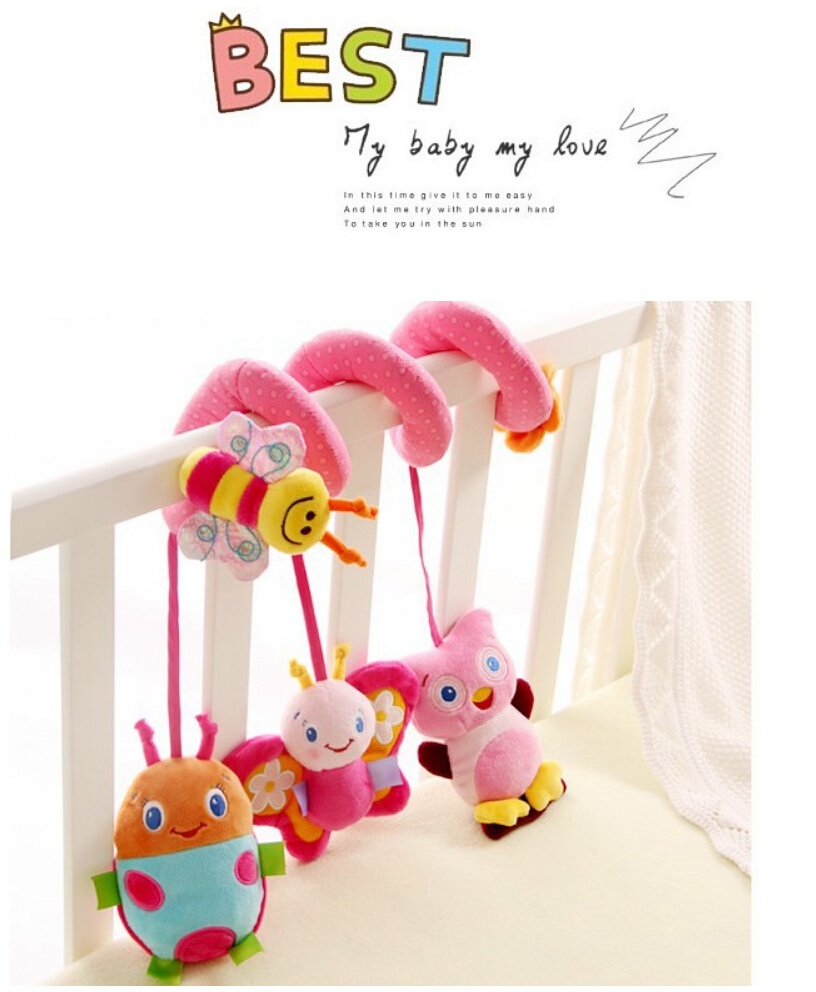 Brand new Cute Spiral Activity - Stroller Car Seat Cot Babyplay Travel Toys newborn Baby Rattles Toy child rattle 0-12 Months(China (Mainland))