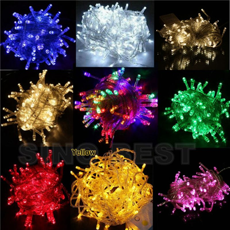 Free-Shipping-Holiday-Outdoor-RGB-100-LED-String-Lights-10M-220V-110V-Christmas-Xmas-Wedding ...