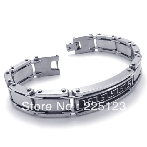 Punk accessories stainless stainless steel great wall bracelet 671002139169 free shipping(China (Mainland))