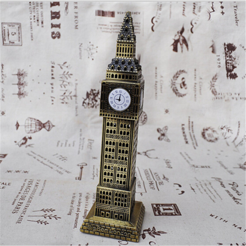 Modern Big Ben Home Decoration Model 2015 New London Souvenirs European Style Casting Iron Metal Crafts London Modern Big Ben(China (Mainland))