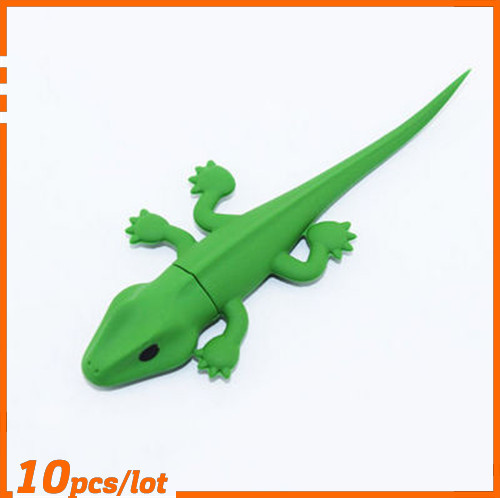 100% Genuine USB Flash Drive cartoon lovely lizard shaped memory stick pen drive 4GB 8GB 16GB 32GB 64GB pendrive hot sale cheap(China (Mainland))