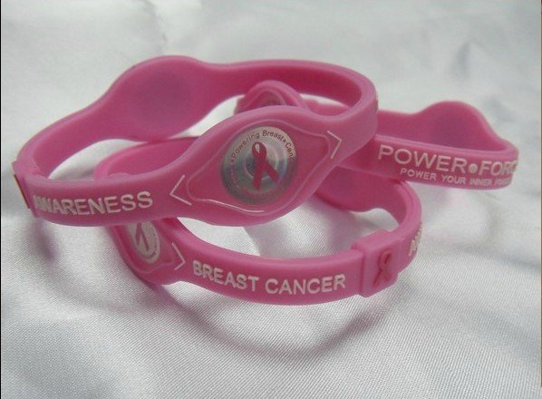 Free Shipping--wholesale--100pcs/lot hot sale silicone breast cancer NCAA, healthy and fashion silicone energy wristband
