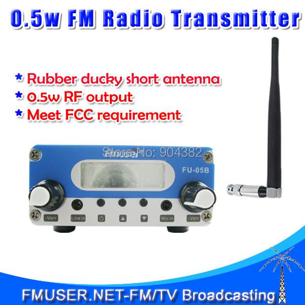 Free shipping FU-05B FM transmitter 0.5W FM radio broadcast Stereo Output 87-108mhz low power fm transmitter antenna kit(China (Mainland))