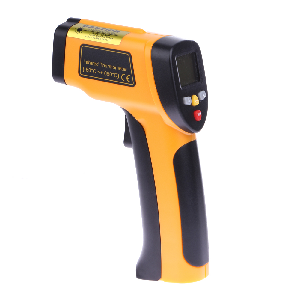 Digital LCD Infrared Thermometer Non-contact Professional Thermometer Themperature Pyrometer IR Temperature Laser Gun -50~650C(China (Mainland))