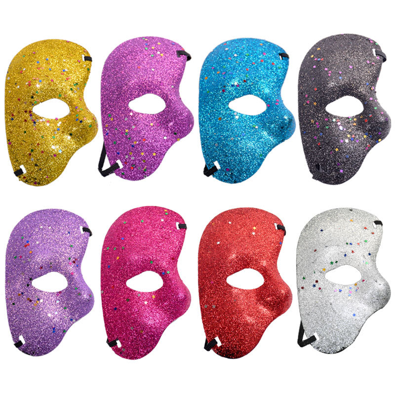 Manufacturers selling Christmas Halloween party plastic mask phantom of the opera ball powders and half face masks(China (Mainland))