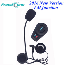 2016 Updated FM function! Bluetooth Intercom Motorcycle Helmet Bluetooth Headset Full Duplex intercomunicador bluetooth moto