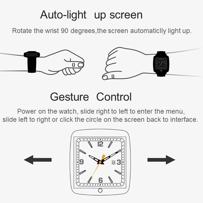 """ถูก แฟชั่นใหม่สไตล์U11Cบลูทูธสมาร์ทดูกล้องสนับสนุนซิมCardFor Androidมาร์ทโฟน1.54 """"หน้าจอHDสำหรับIOS A Ndroid"""