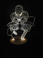Free Shipping 1Piece 3D Bulbing Light Glowing Optical Illusion Versatile LED Lamp Spider Man Table Lamp(China (Mainland))