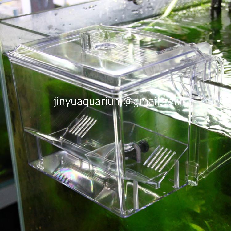 Pneumatic aquarium small fish separation box fish breeding for Fish breeding net