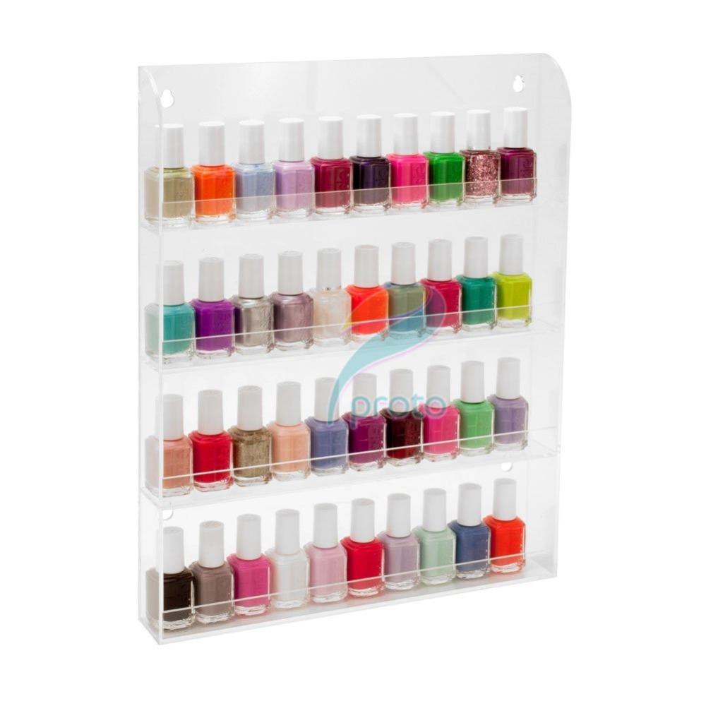 USA Stock Acrylic Nail Salon Transparent Exhibition Wall 4 Layers Polish Rack Storage Art Tools USF0206  -  Guangzhou Dresso Fashion Co.,Ltd store