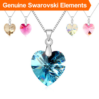 New Sales Hot Made with Swarovski Elements 18k Gold Plated heart pendant necklace Austrian Crystal jewelry
