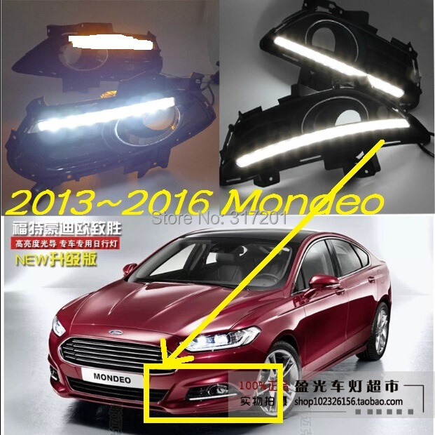 2013~2016 sedan car LED daytime running light+Free ship,2pcs/set+wire of harness,10~12W 12V,6000K,good!