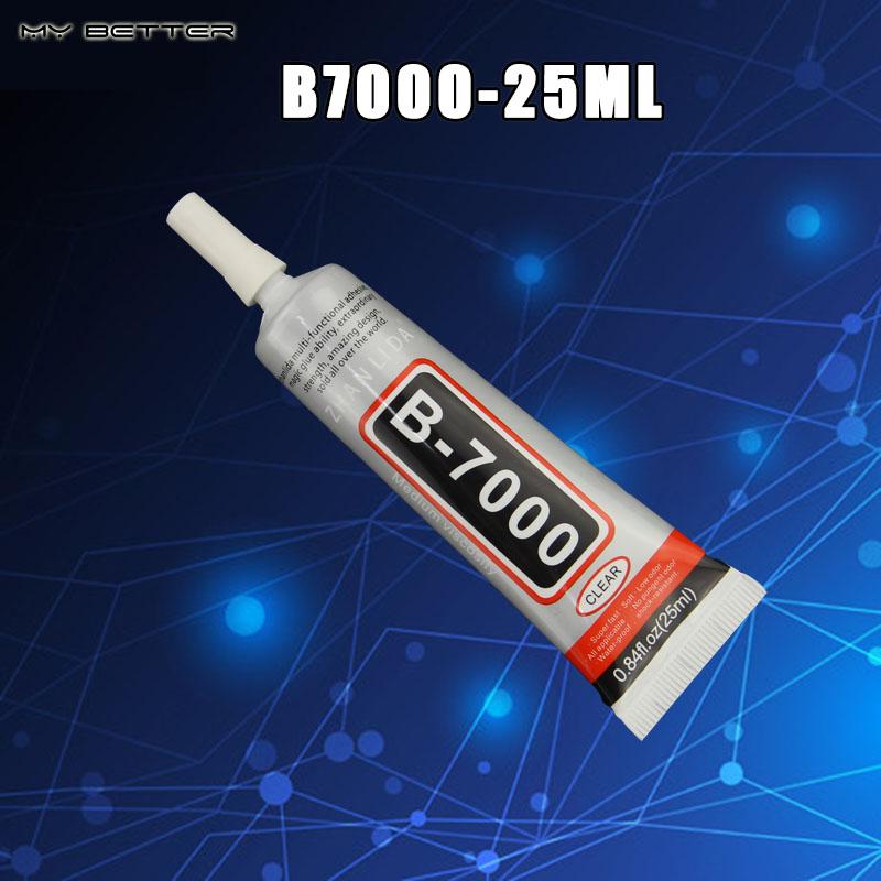 Rhinestone Glue B7000 25ML Epoxy Resin Super Glue Sealant For Jewelry Rhinestone Glass Mobile B-7000 Uv Glue Gun(China (Mainland))
