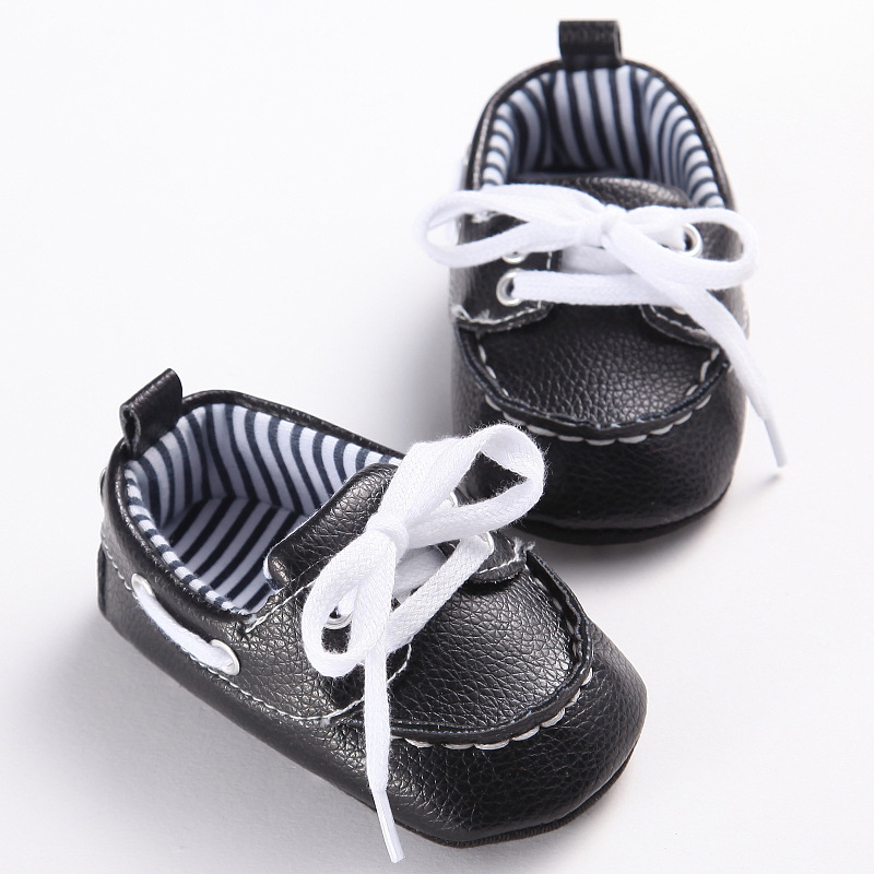 2016 Fashion Classic Leisure Blue Infant Toddler Baby Boy Kid Prewalker PU Leather Shoes Crib Babe Soft Soled Loafer 0-1 Years(China (Mainland))