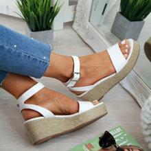 Sandalias Mujer cuñas zapatos tacones altos sandalias verano 2019 chussures sandalias de plataforma de mujer Sandalia femenina(China)