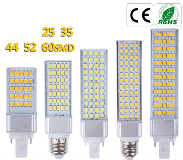 2pcs/lot 5-13W Epistar 5050 SMD E27 Horizontal plug lamp 100-240VAC to replace 8W-20W Compact Fluorescent Lamp(China (Mainland))