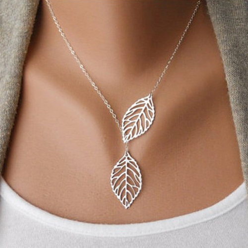 Гаджет  Simple Leaves Choker Necklace Collar Leaf Vein Statement 925 Sterling Silver Necklace Women Jewelry 6ICI None Ювелирные изделия и часы