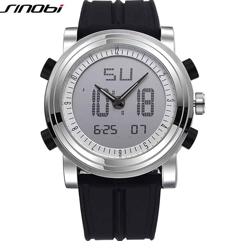 SINOBI Sport Watches for Men Silicone Strap Digital Watch Men Outdoor Military Army Waterproof Wristwatch Relogios Masculinos(China (Mainland))
