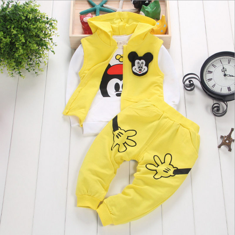 2016 New 3 pc / set (t-shirt + vest + pant) Fall and winter baby boys and baby girls clothes kids clothes LL027(China (Mainland))
