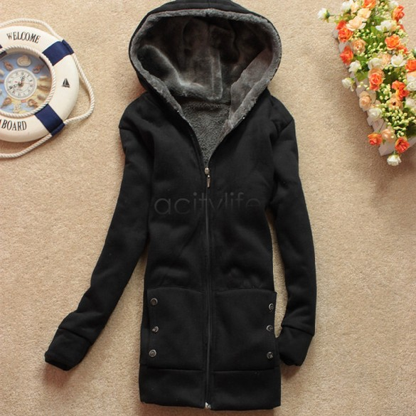 Promotion Plus Large women hoodies sweatshirts Clothing outerwear jacket women fur winter warm 35(China (Mainland))