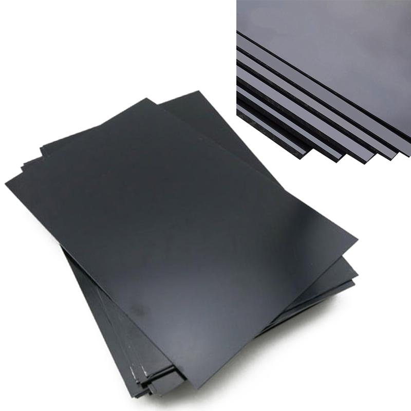 1Pc Durable ABS Styrene Plastic Plate Sheet Plastic Flat Sheet 1mm x 200mm x 300mm Black(China (Mainland))