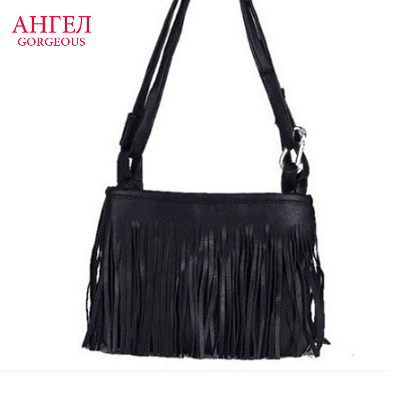 2015 Brand New Evening Cluth Bag Women Handbags Fringe Tassel Leather Shoulder Bag Brand Women Messenger Bags Fashion Women Bag