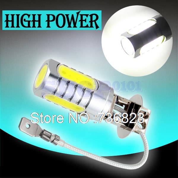 H3 led High Power 6W Pure White Light Car LED Bulb car led bulbs Car Light Source parking 12V 24V 6000K Head Fog Lamps(China (Mainland))