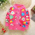 2016 New Girls Cardigan Sweater Children Kids Autumn Winter Cardigan for Girls O neck Spring Toddler