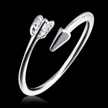 Fashion Women Wrap Rings Lady Gold/Silver Plated Opened Adjustable Arrow Love Ring 2016 Hot Sale High Quality(China (Mainland))