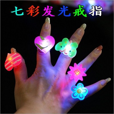 drop shipping led light finger ring,flash finger ring,lovely finger ring,50pcs/lot(China (Mainland))