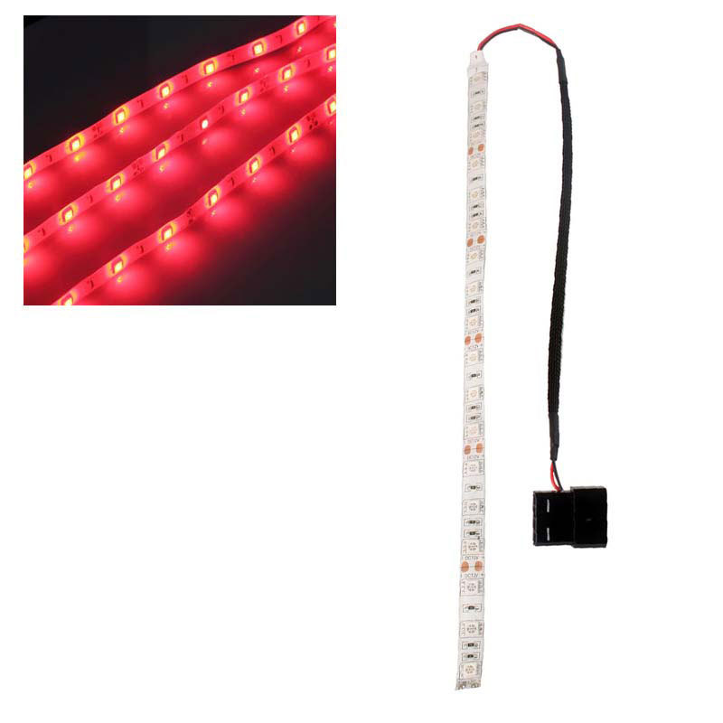 New Amazing Red/Blue/Green 60cm 5050SMD LED PC Computer Case Strip Light Self-adhesive # 49842(China (Mainland))