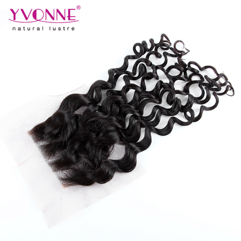 Italian Curl Lace Top Closure 4x4,Brazilian Remy Human Hair Closure,10-20 Inches,High Quality Alixpress Yvonne Hair Products<br><br>Aliexpress