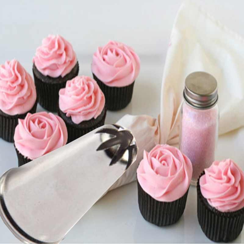 Rose Flower Cup Ice Cream Piping Tip Nozzle Cake ...