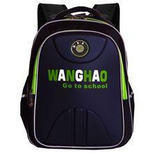Wang Hao genuine safety reflective schoolbag 1 - 3 - 4 grade boys and girls super waterproof shoulder bag(China (Mainland))