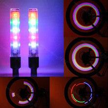 Buy New 2Pcs 5 LEDS Bike Bicycle Tire Valve Cap Tube Neon Lights Wheel Spoke Lamp for $2.03 in AliExpress store