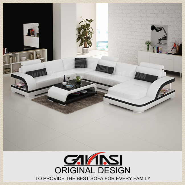 Foshan Furniture Shop Online Unique Shape Sofa Set Antique European Style Black And White Sofa