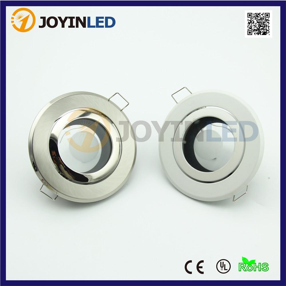 Down light fixture frame gu10 mr16 Bulb socket recessed LED Ceiling lamp holder circle satin fitting(China (Mainland))