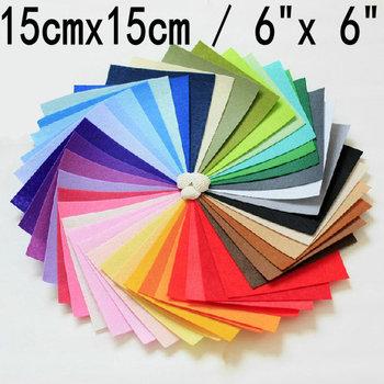 free shipping felt fabric, polyester,DIY felt fabric,non-woven felt, 15CMX15CM,40pcs/lot