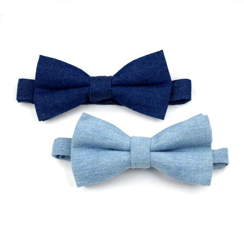 fashion beslli own design denim bowties prom bow tie