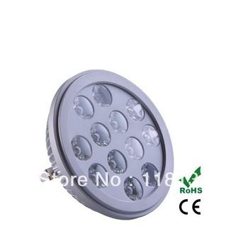 12W AR111 LED bulbs 85~265V AC Epistar spotlights 2pcs led lamp high power, warm white 3000K
