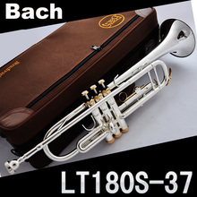 Free Shipping New Bach trumpet lt180s-37 gold silver plated copper Small musical instrument bell mouth nstrument B (China (Mainland))