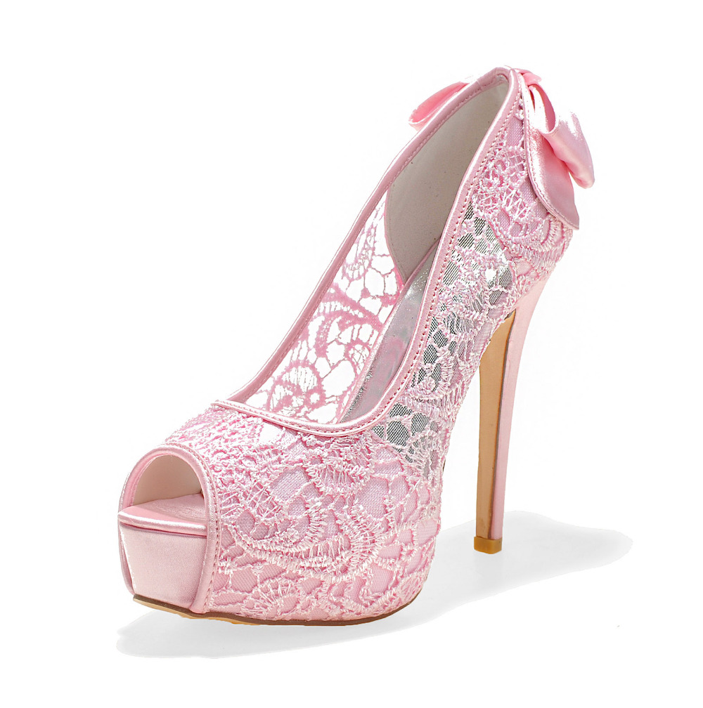 Pink Lace High Heels