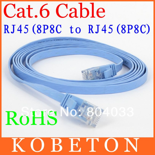 High quality 15M CAT6 RJ45 Cable Flat UTP 10/100/1000Mbps Ethernet Network Cable 10G Base 32AWG Bare Copper For Router DSL Modem(China (Mainland))
