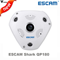 ESCAM Shark QP180 HD 960P 1 3MP 360 degree panoramic fisheye PTZ infrared camera VR camera