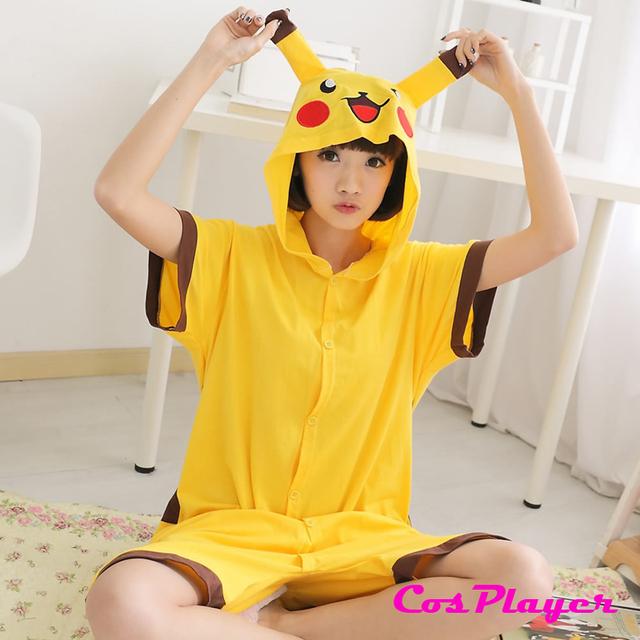 Новое поступление Pokemon костюм животных взрослых балахон пикачу пижама лето домашней ...