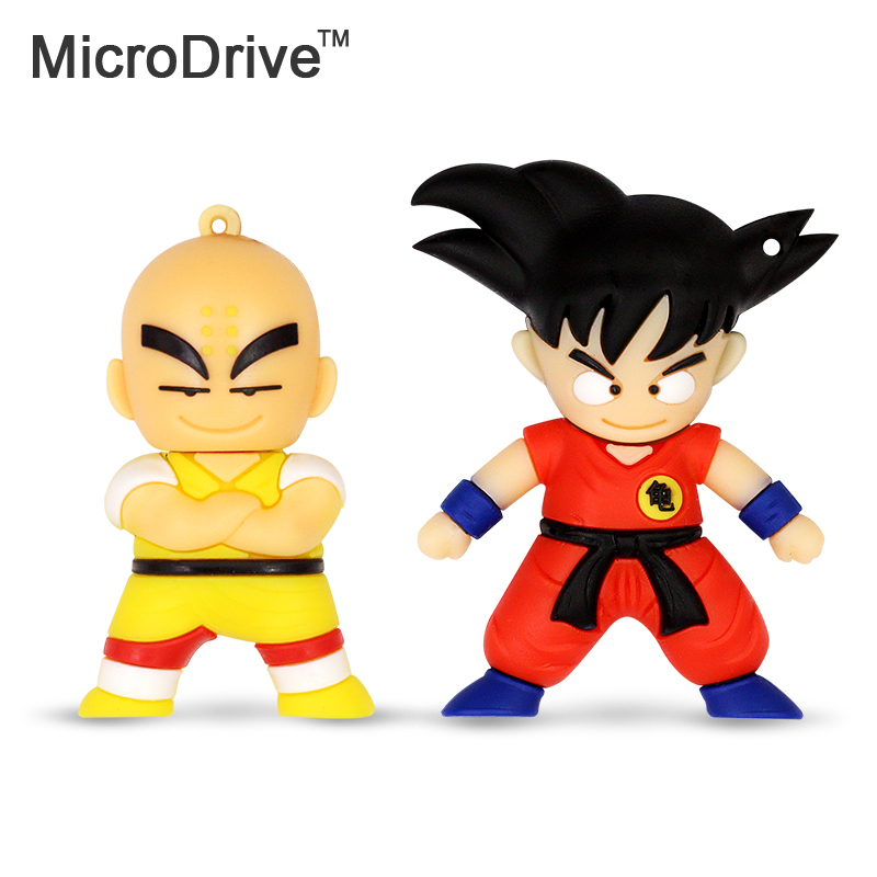 Hotsale!! pen drive cartoon Dragon Ball u disk Goku Monkey King Krilin gift 4gb 8gb 16gb 32gb usb flash drive prawn pendrive(China (Mainland))
