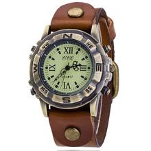 CCQ 2016 New Fashion Vintage Punk Leather Women Quartz Wrist Watch Gift Relogio Feminino BW1845