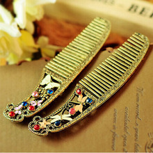Retro pretty butterfly and Dragonfly Flower Floral Crystal Element comb Fashion Hair Styling tools vintage WH0314(China (Mainland))