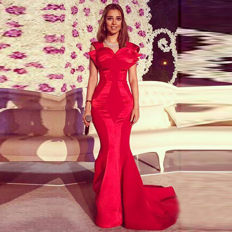 Online Buy Wholesale long fitted mermaid dresses red from China ...